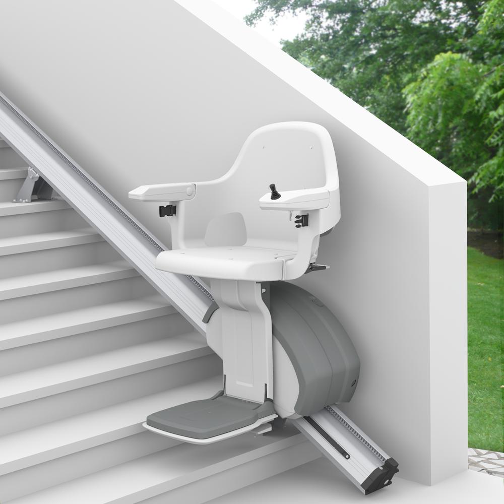 Homeglide monte-escalier droit extérieur